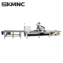 Automatic Uploading and loading CNC Wood working planer Cutting Machine