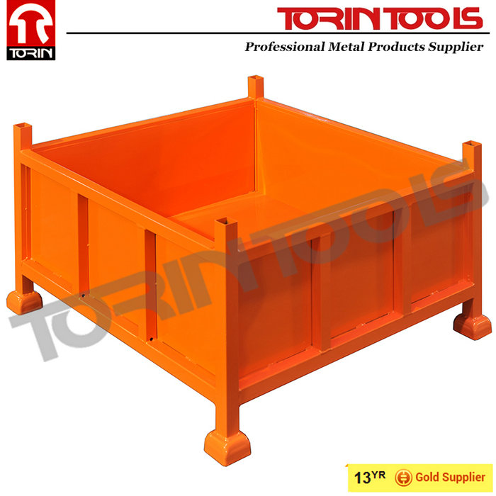 Customized Heavy Duty Flat Pack Large Steel Container For Industrial