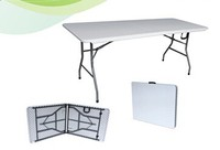 wholesale banquet camping pinic plastic 6ft 183cm folding table portable