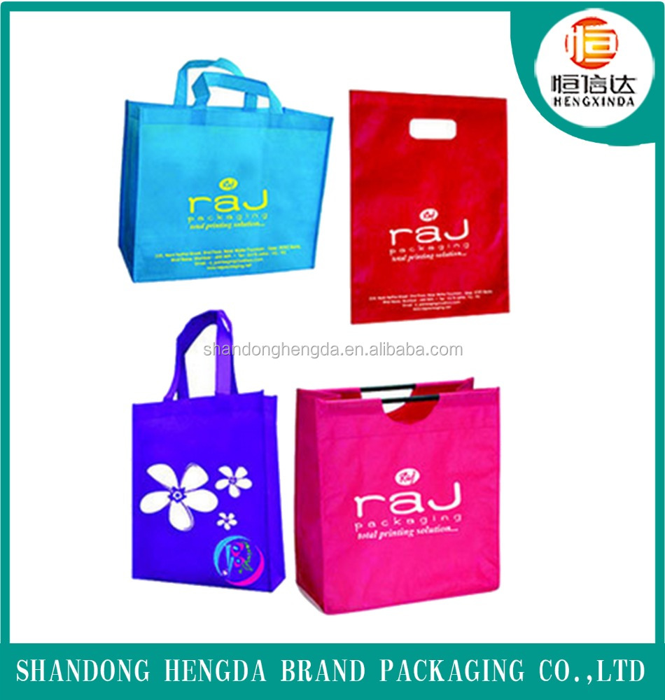 2017 handled printed eco nonwoven bag for shopping