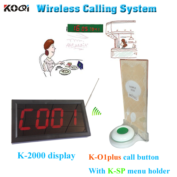 100% Brand Fashion Koqi Factory Restaurant Waiter Call Button K-O1plus Pager System