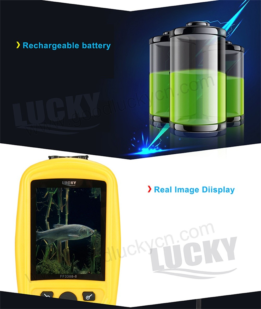 LUCKY Portable Underwater Fishing & Inspection Camera System CMD sensor 3.5 inch TFT RGB Waterproof Monitor Fish Sea 20M Cable