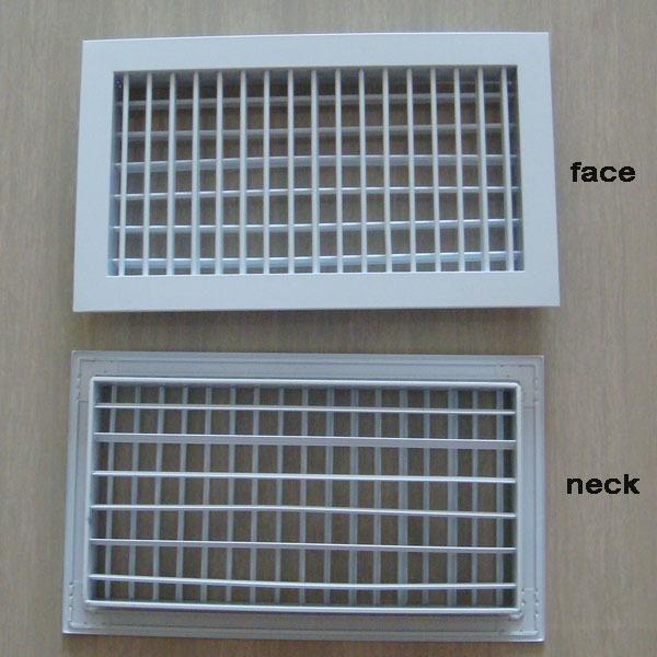 Double Deflection Grille : Aluminum adjustable double deflection air grille for hvac