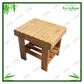 New design square bamboo children stool