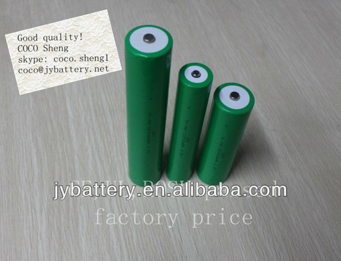 c rechargeable battery pack 2.4 volts 4000mah for flashlight etc