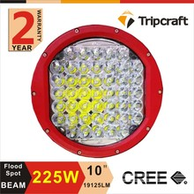 2016 New arrival 20000 lumen led work light 225w 10 inch led driving light with CE RoHS IP67