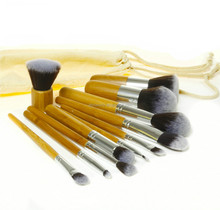 11 PCS Mini Travel Makeup Brush Set With Canvas Bag Professional Manufacturer