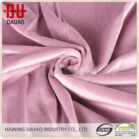 Wholesale baby pink micro velboa fabric for sofa cover and curtain, bedding