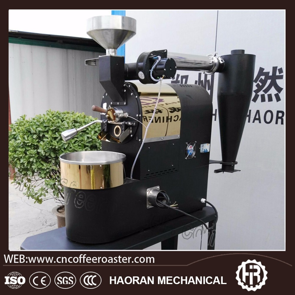 Zhengzhou high quality 500 g 1 kg 2 kg gas and electric coffee roaster machine with data logger