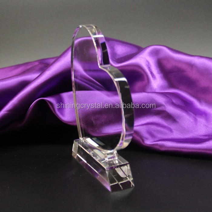 wholesale heart shape K9 crystal trophy award