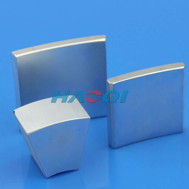 Strong permanent arc neodymium motor magnets