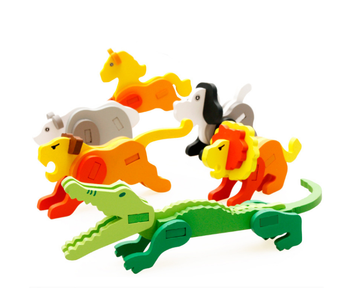 2019 Amazon New Trend Gifts For Kids  Educational Toys  3D Wooden  Animal Puzzle