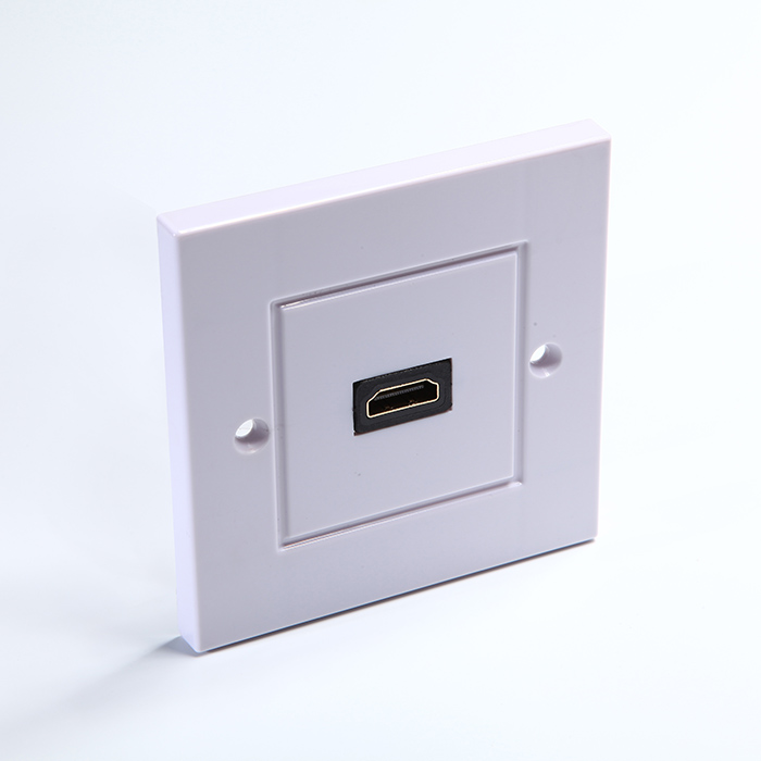 1080P HDMI  Female Port Audio Video Wall Plate Socket Outlet ABS Face Panel