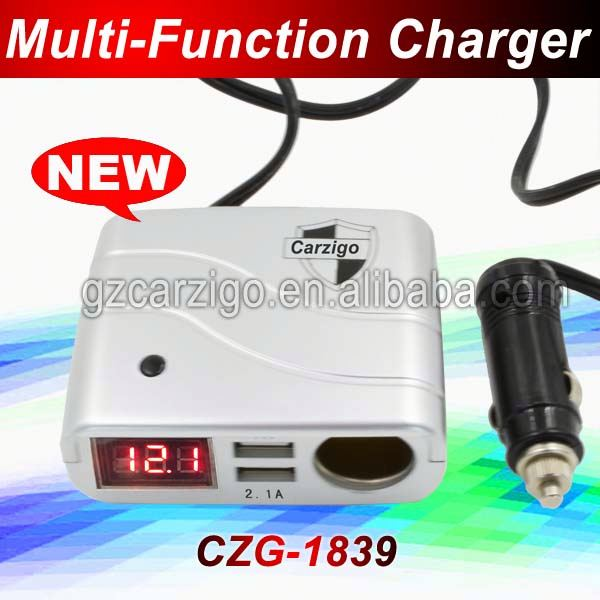 Ningbo manufacturer 2014 new product Promotion dual usb port car charge