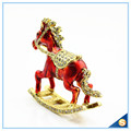 Enamel Metal Trojan Shape Trinket Box Animal Series Rhinestone Jewelry Box SCJ730