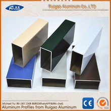 6063 T5 Aluminum hollow window section weight of aluminum section