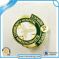 high quality fashion hard enamel lapel pin by golden supplier