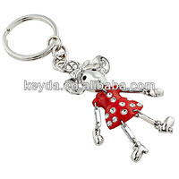 promotion items newest mickey mouse key chain metal gift cute shaped keyring