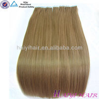 Wholesale Brazilian Virgin Hair Weave, Remy Hair Extensions, High Quality Super Strong Natural Multi Color Curly Tape Hair E