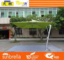Large hanging aluminum cantilever umbrella