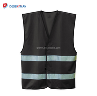 Blue black green color Mesh Knitted High Visibility Highway Reflective Safety Vest With En20471 and pockets