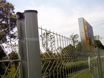 Hot dipped galvanized welded panel 50 x 200 mm mesh opening 4.5 mm wire dia 50 x 100 mm triangle curve design fence grille