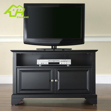 New Design Cheap Beautiful black TV cabinet modern with showcase