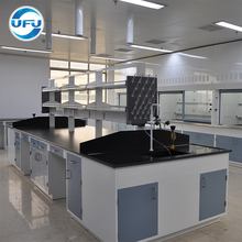Laboratory Furniture Central Workbench with Reagent Shelf for Chemical Laboratory