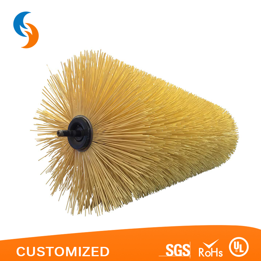 Rotary soft filament spiral wire cylinder brush for sale