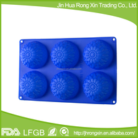 6-cavity silicone molds for microwave cake