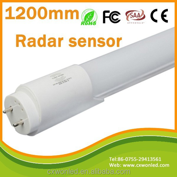 18w G13 2700-6500K t8 radar 1200mm motion microwave sensor t8 led <strong>tube</strong>