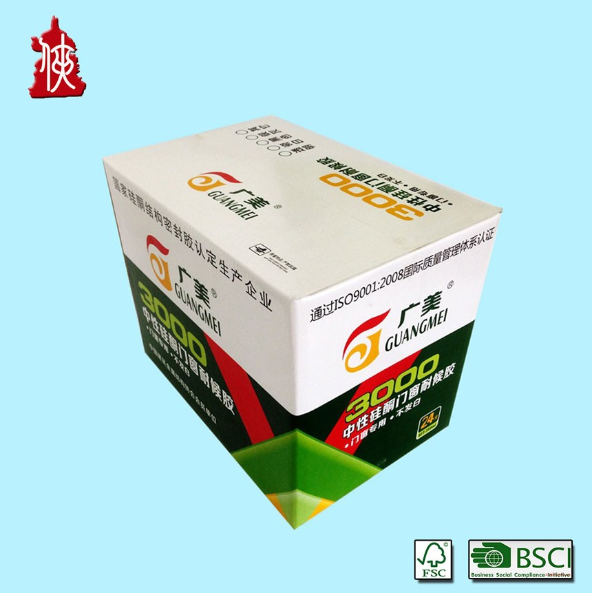 Professional Printed Recyclable Beer Packaging Box with Dividers / Partitions / Inserts