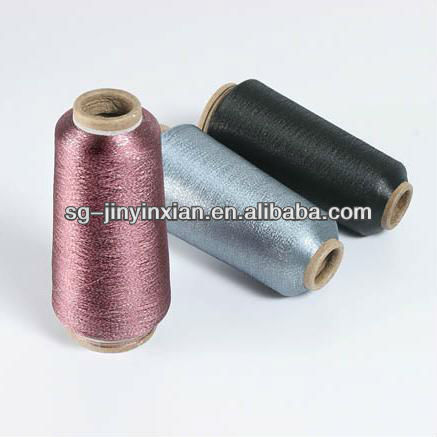 Quality copper color metallic yarn for knitting