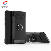 Car magnetic Vehicle mounted paster smart phone case for samsung galaxy note 8 cover ,cover for samsung note 8