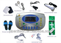 Multi-functional digital tens acupuncture massager machine with electrotherapy/heating/laser/ultras D508A/ digital tens massager