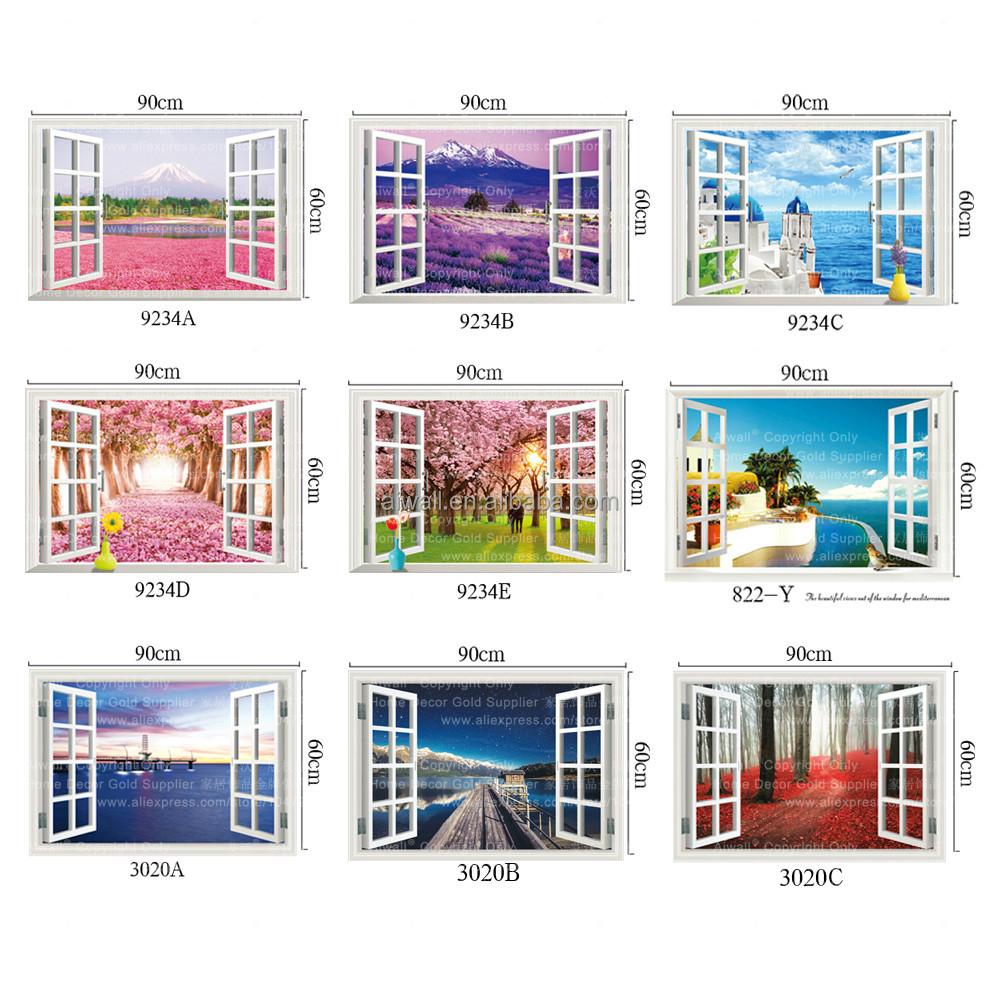 8012 3d agujero pared pegatina vistas al mar etiqueta barco a casa decoraci 243 n stickers