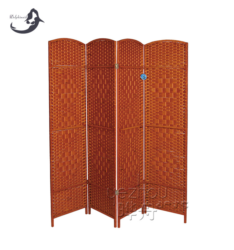 Cheap custom rattan outdoor folding screen wholesales for Cheap decorative screens