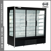 supermarket glass door display refrigerator showcase