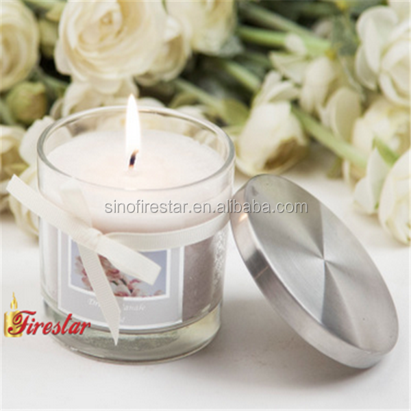 orchid scented glass candle with steel lid