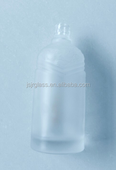 special frosted beverage glass bottles wine whisky rum vodka glass bottles China factory