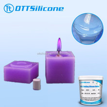 RTV 2 liquid silicone for wax/candle molds, hand- made candle silicone molds