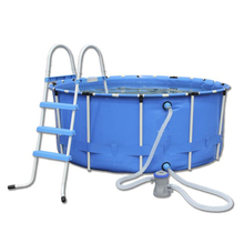 Mobile Family Size Round Metal Frame Plastic Swimming Pools folding swimming pool