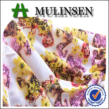 Mulinsen Textile Hot Sell New Design High Quality Plain Woven Stretch Cotton Poplin Floral Fabric for Garment
