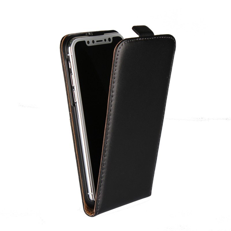 Free Sample Mobile Phone Cases Vertical Flip Cover For Apple iPhone X 10 Ten Leather Phone Case