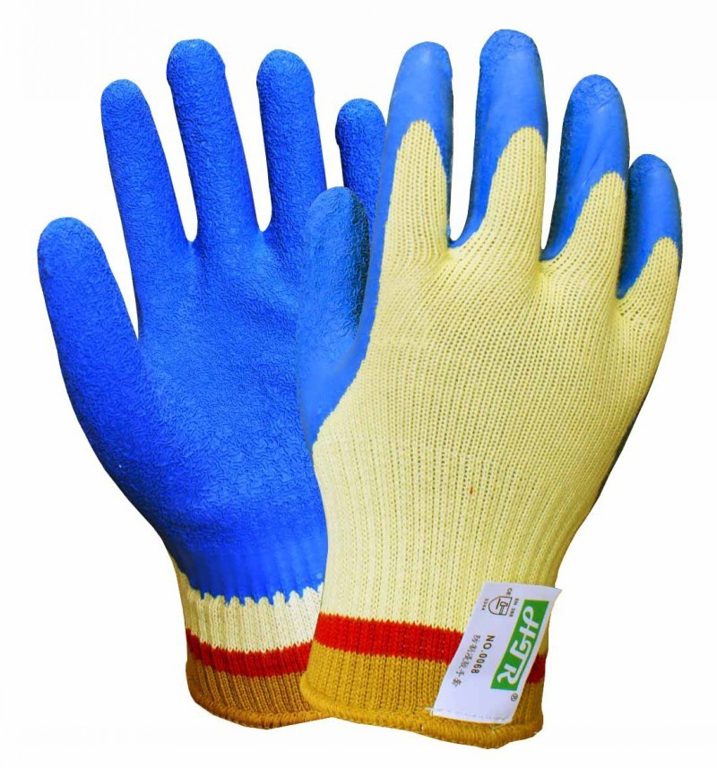 Htr Aramid Fiber Crinkle Latex Coating Gloves Cut Resistant Glove ...