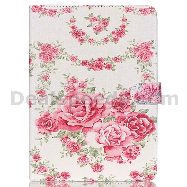Flowers Filp Stand PU Leather Cases Cover for iPad Air 2