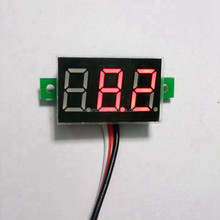 Super Mini LED Digital Voltmeter DC 0-100V Red Car Motorcycle Battery Monitor