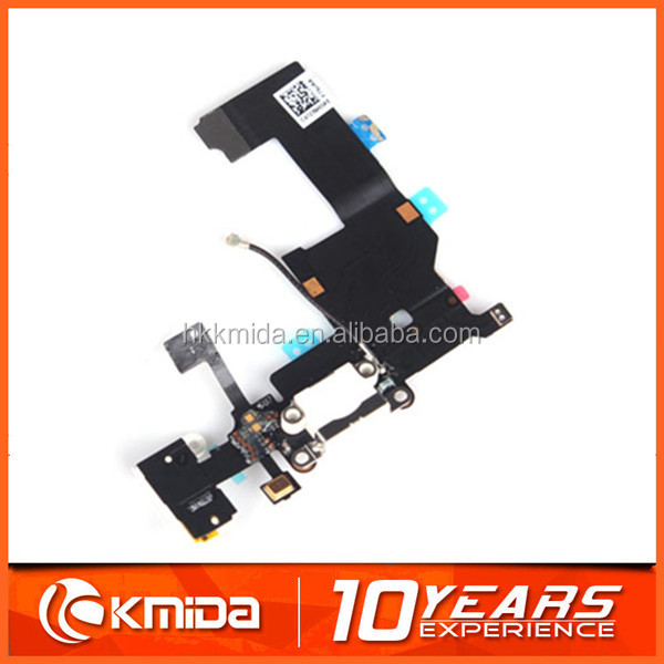 Dock Connector Charging Port Headphone Flex Cable for Apple iPhone 5