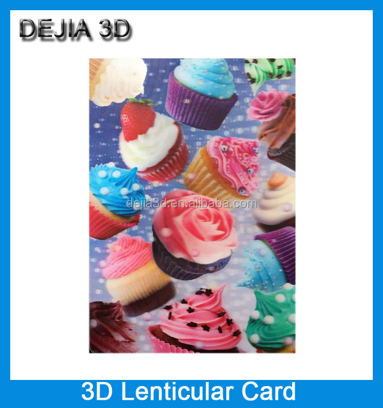 Factory wholesale CMYK printing 3d lenticular card