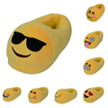 Hot Sale Embroiderey Cotton Fabric Adult Emoji Slipper